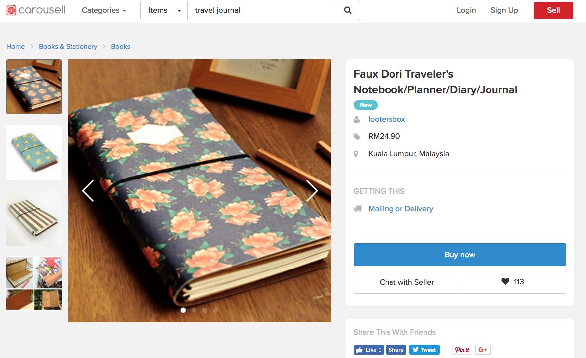 barang secondhand buku buku dan travel journal