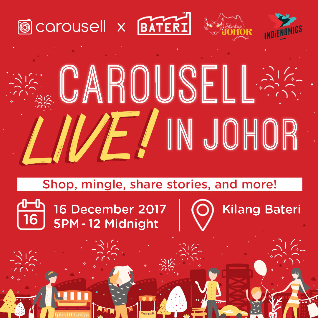 A fun filled night of shopping, interactive workshops and big giveaways at Carousell LIVE! in Johor