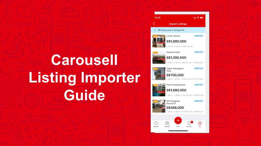 Guide to Importing your Listings on to Carousell