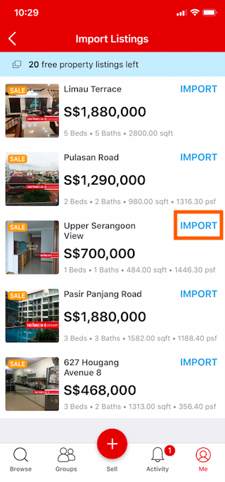 How To Import Listing