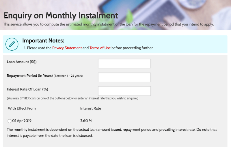 hdb enquiry on monthly instalment - buying a hdb flat in singapore