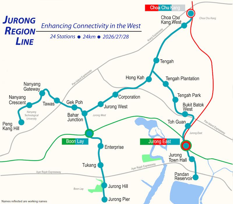 jurong region line mrt singapore tengah