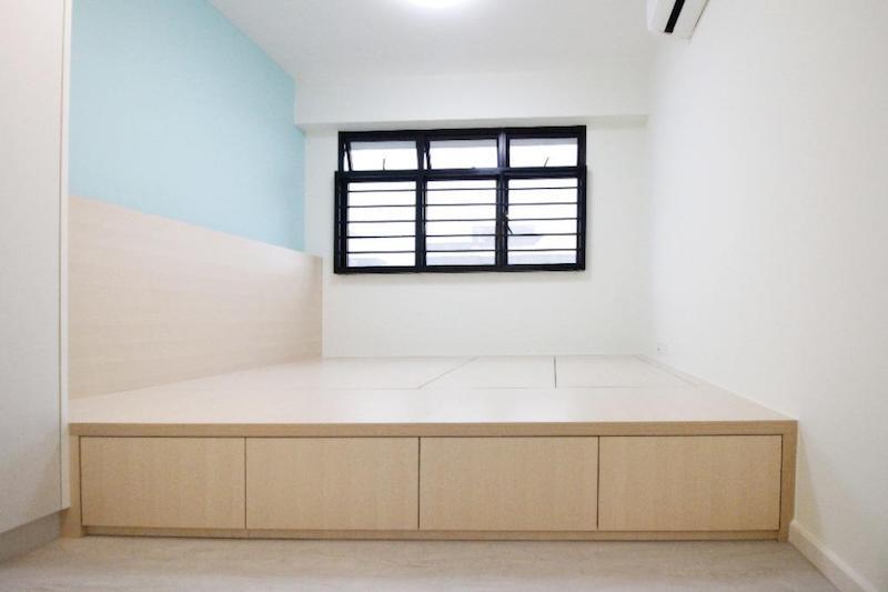 hdb renovation bed platform