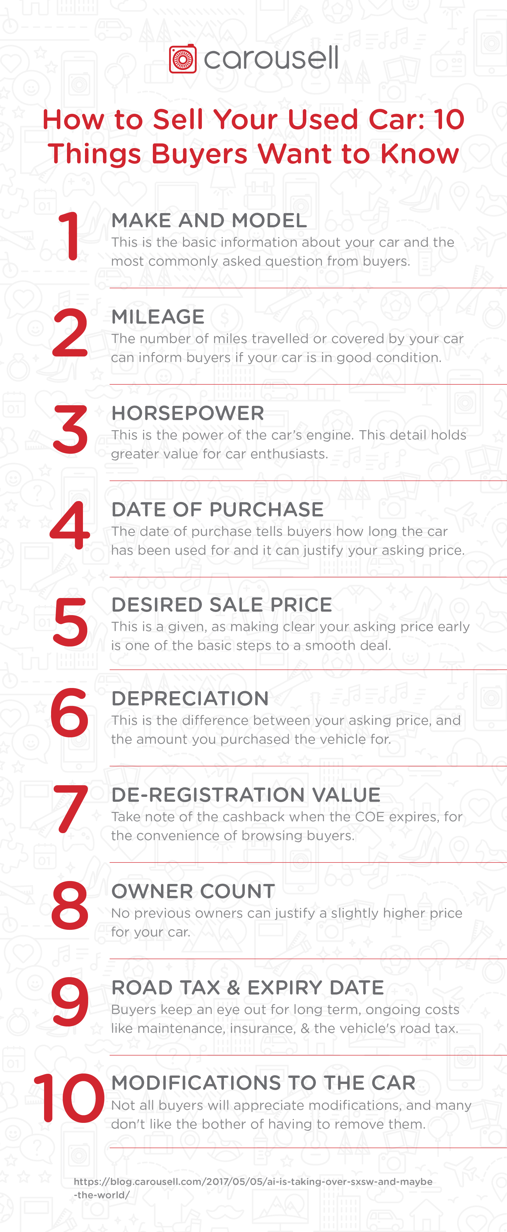 how to sell your used car 10 details buyers want to know carousell. Black Bedroom Furniture Sets. Home Design Ideas
